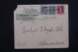 BOLIVIE - Enveloppe Commerciale De La Paz Pour La France En 1900 Via Panama, Affranchissement Plaisant - L 45716 - Bolivie