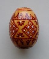 Wooden Egg Oeuf En Bois Folk Art Hand Painted Fait Main 10 - Uova