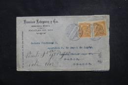 MEXIQUE - Enveloppe Commerciale De Mazatlan Pour La France En 1909, Affranchissement Plaisant - 45718 - Messico