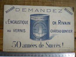 (53) Mayenne - CHATEAU GONTIER - Buvard Publicitaire CH. RIVAIN L'encaustique Au Vernis - Buvards, Protège-cahiers Illustrés
