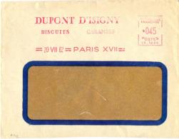 EMA DUPONT D'ISIGNY BISCUITS CARAMELS = 20 VII 62 = PARIS XVII = - Marcofilia (sobres)