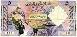 Algérie - Billet De 5 Dinars - 1964 - Argelia