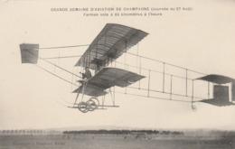 CPA:GRANDE SEMAINE D'AVIATION DE CHAMPAGNE AVIATEUR FARMAN EN PLEIN VOL - Aviateurs
