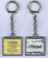 Porte Clés De L'Escadron De Transport 2/64 - Maine - Porte Clés Lenticulaire ( L'image Change Quand On Le Bouge ) - Fuerzas Aéreas