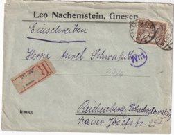 POLOGNE LETTRE RECOMMANDEE DE GNESEN - 1919-1939 Republic