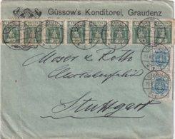 POLOGNE 1921 LETTRE DE GRAUDENZ - Covers & Documents