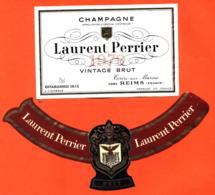 étiquette + Collerette De Champagne Brut Vintage 1979 Laurent Perrier à Tours Sur Marne - 75 Cl - Champagne