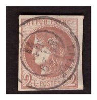 N° 40B Obl. - 1870 Emissione Di Bordeaux