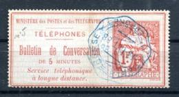 Téléphone : Yvert 5 - Oblitéré - Cote 35 Euros - Lot 193 - Telegraph And Telephone