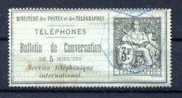 Téléphone : Yvert 6 - Oblitéré - Cote 80 Euros - Lot 194 - Telegraph And Telephone