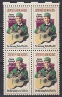 USA 1979 Jimmie Rodgers 1v Bl Of 4 ** Mnh (45019A) - Ongebruikt