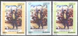 3255 ✅ War Police Palestinian Intifada 1989 Sudan 3v Set MNH ** 4ME - Police - Gendarmerie