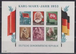 DDR 1953 - Karl-Marx Block 8 B Postfrisch MNH** - [6] Repubblica Democratica
