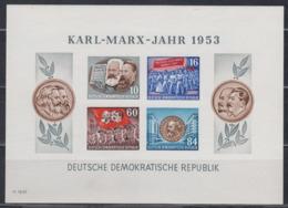 DDR 1953 - Karl-Marx Block 9 B Postfrisch MNH** - Blocchi
