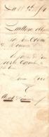 Vieux Papier Du Béarn, 1854, Quittance De Jean Coqué, De Mourenx à Jean Peyron Cazenave, De Noguères - Historische Dokumente
