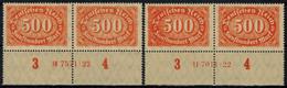 Deutsches Reich 223 Unterrandpaare Mit Beiden HAN Postfrisch Infla - Deutschland