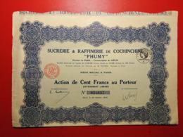 """INDOCHINE / SUCRERIE & RAFFINERIE DE COCHINCHINE """" PHUMY """" 1926 - Asia"""