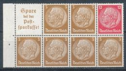 Deutsches Reich Heftchenblatt 94 B ** Mi. 25,- - Zusammendrucke