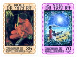 Ref. 263691 * NEW *  - NEW HEBRIDS . 1973. CHRISTMAS. NAVIDAD - Nuevos