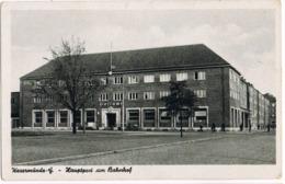 AK Wesermünde, Hauptpost Am Bahnhof Um 1940 - Bremerhaven