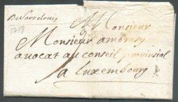 Précurseur  De (griffe Manuscrite) DeSaarLouis 1718 Vers Luxembourg.- TB 14684 - Postmark Collection (Covers)
