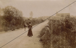 Photo Originale 27 Mai 1906 Nuillé Sur Vicoin Mayenne 17x11cm - Plaatsen