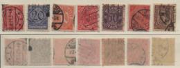 Deutsches Reich 1920 Dienstmarken MiNr. D24; D26-D30; D33 Gestempelt; German Realm Used - Used Stamps