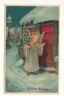 BONNE ANNEE  )) NOUVEL AN   ANGELOT APPORTANT UN PETIT SAPIN / GAUFFREE - Año Nuevo