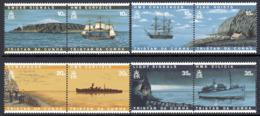 Tristan Da Cunha 1997 Lighthouses & Ships Set Of 8, 4 Pairs, MNH, SG 611/8 - Bateaux
