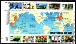 USA BLOCK 32 POSTFRISCH(MINT) GESCHICHTE DES 2. WELTKRIEGS(III) DAS JAHR 1943 - Hojas Bloque