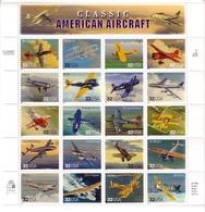 USA MI-NR. 2833-2852 POSTFRISCH(MINT) KLEINBOGEN AMERICAN AIRCRAFT FLUGZEUGE - Blocks & Sheetlets