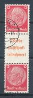 Deutsches Reich Zusammendruck S 206 Gestempelt Mi. 65,- - Se-Tenant
