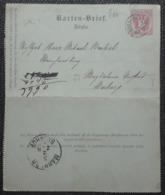 Kartenbrief(slov) 1889, Fingerhutstempel, OBER-PULSGAU - MARBURG - 1850-1918 Empire