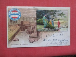PACIFIC MAIL CO. S.S.-- On Board S.S.Siberia    Japanese Girls In Garden --  Ref 3693 - Steamers