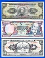 Equateur  6  Billets - Ecuador