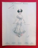 1910 Le Carnaval Parisien La Souris Blanche Mode Par Atelier Bachwitz Edition Spéciale Chic Parisien N°5 - Documentos Antiguos