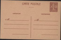 Entier Carte Postale Semeuse Lignée 1.2 Brun Carte Locale Imprimée à Rennes Pr Départements Libérés Libération Cote 75 € - Postales Tipos Y (antes De 1995)
