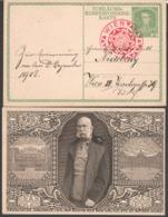 """Österrreich 1908 Jub.Korrosp.Karte """"Kaiser Franz Joseph"""" Echt Gelaufen - Briefe U. Dokumente"""