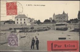CPA Batz Vignette Par Avion Vol Spécial Plouescat à Paris CAD Plouescat Bourget Aviation Seine Paris Gare Nord 25 8 31 - Storia Postale