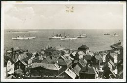 HELGOLAND, AK  FOTO-OBERLAND AUF DR 516 MIT MAS-STPL HELGOLAND AUS 1936, TOPP! - Helgoland