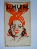 Etiket Etiquette Rhum Jamaïque Dessin Daël Impr. J.C.M. N° 1029 - Rhum