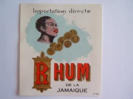 Etiket Etiquette Importation Directe Rhum De La Jamaique Dorée N° 501 - Rhum