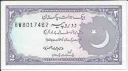 PAKISTAN  2 Roupies  Nd(1986)  -- UNC -- - Pakistan