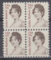 USA 1980 Dolley Madison 1v Bl Of 4 ** Mnh (45020B) - Ongebruikt