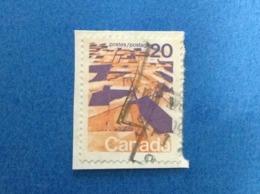 1972 CANADA FRANCOBOLLO USATO STAMP USED ORDINARIO LANDSCAPES 20 - 1952-.... Regno Di Elizabeth II