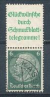 Deutsches Reich Zusammendruck S 207.1 Gestempelt Mi. 9,- - Se-Tenant