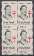 USA 1980 Emily Bissell 1v Bl Of 4  ** Mnh (45020D) - Ongebruikt