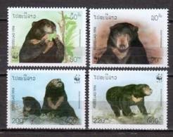 Laos 1994 Mi 1410-1413 MNH WWF - BEARS - W.W.F.