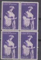 USA 1980 Edith Wharton 1v Bl Of 4 ** Mnh (45020E) - Ongebruikt