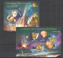 TG051 2015 TOGO TOGOLAISE SPACE MISSION NEW HORIZONS PLUTO KB+BL MNH - Espace